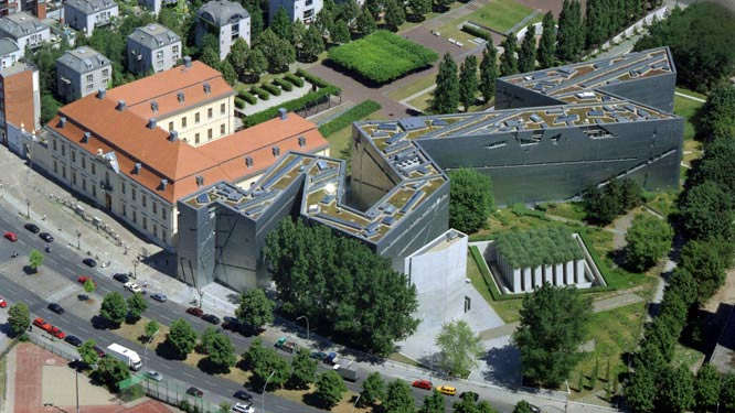 Aerial view of the Jewish Museum Berlin